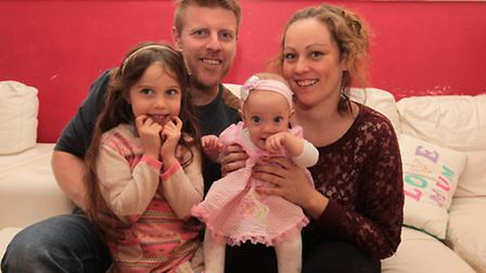 Nick and Fiona Minett-Watkins with their daughters Jasmine and Lacymai