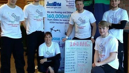 Just Gym members raised almost £900 for Great Ormond Street Hospital.