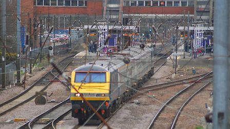 All lines are blocked between Stevenage Railway Station and Peterborough