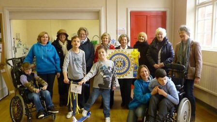 Members of the Inner Wheel Club visited The Accuro Club on Saturday to present a new scooter.