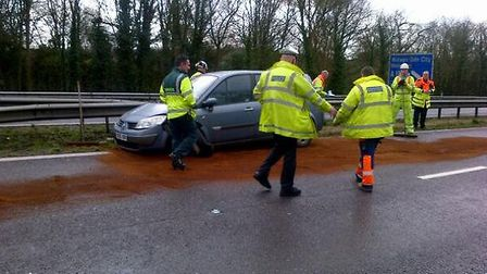 Ambulance and police services were called to A1(M) junction 6-7