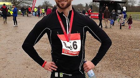 Competitor Ross Turner, from Hitchin, completed the British Heart Foundation 5km jog