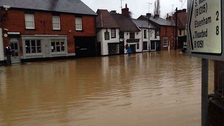 Lower Street in Stansted Mountfitchet is one of the flooding 'hotspots' set to benefit from a £1m em