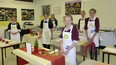 The six young chefs who competed in the local round of the competition.