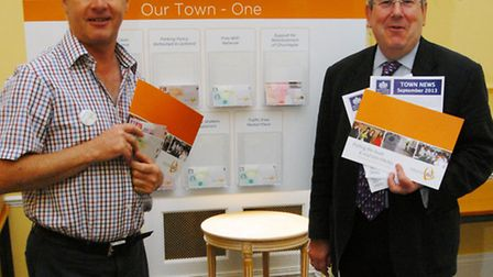 Chris Hollins, director of BID management company PFBB and Hitchin town centre manager Keith Hoskins