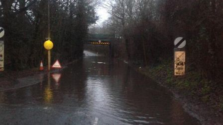 Watton Road at Bragbury End. Photo by The Cold End via Twitter