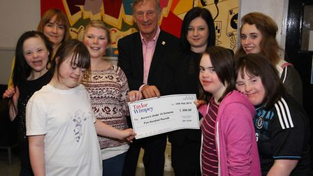 Taylor Wimpey has donated £500 to Accuro for its youth clubs for young people with disabilities. Pic