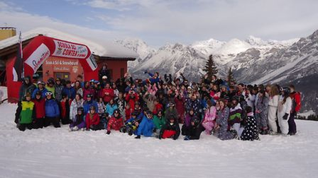 All109 students on the final ski morning of a very successful trip.