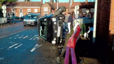 A crash that occurred near The Thomas Alleyne Academy last September