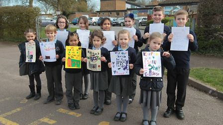 Children at St Johns Catholic Primary and Nursery School in Baldock have made posters to persuade pa