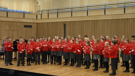 St Thomas More Primary School choir.