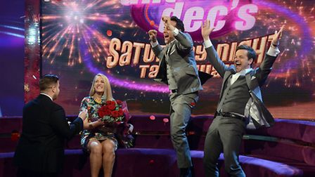 Stevenage couple Lewis Davis and Laura Knowles on Saturday Night Takeaway