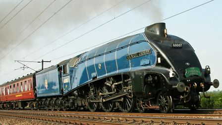 Sir Nigel Gresley – the locomotive which is hauling the train on the day