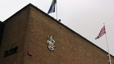 A flag was raised by Stevenage Borough Council at Daneshill House this morning to mark Commonwealth