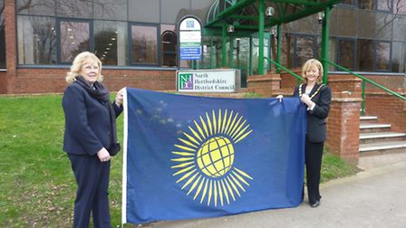 A flag was raised at North Herts District Council offices this morning to mark Commonwealth Day