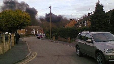 A huge blaze has broken out at a scrapyard in Takeley.