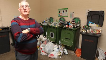 Resident Charles Dillingham wants more collections at Sax House, Western Close, Letchworth GC