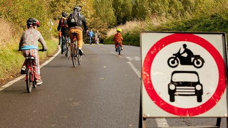 Hundreds of people cycled, scooted and walked the Wenden Road in support of Access Walden's Ride n R