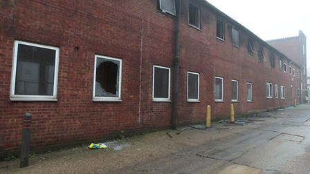 Damage caused by the fire