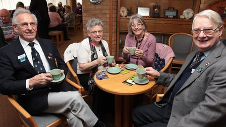 Members of the Royal British Legion's Stevenage branch Geoffrey Fisher, Dee Fisher, Pat Jeffrey and