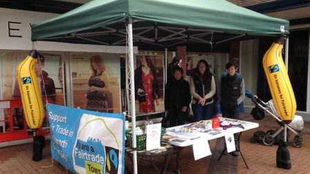 A stall was set up in Leys Square, Letchworth GC