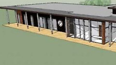 An artist's impression of the proposed clubhouse