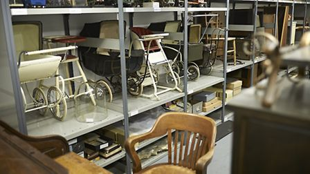 Ebenezer Howard's desk is one of the items featured in the Garden City Collection Credit: BJP Photog