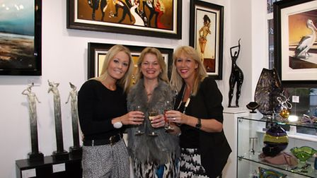 1066 Gallery manager Sally Liddle, owner Hayley Norman, gallery manager Deborah Piscina