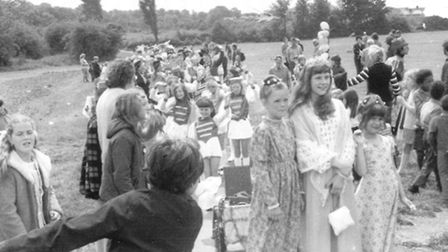 Walsworth Festival 1974 Brenda, Plum, Festival Queen. Pic by Janet Walker Collection