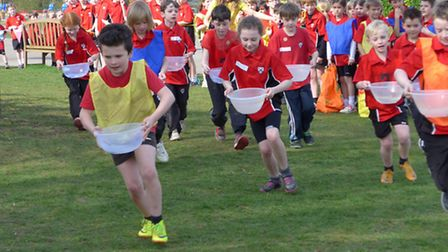 St Thomas More School in Saffron Walden kicked off the Sport Relief fundraising activities in Uttles