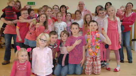 Wear It Pink day at Great Sampford Primary School