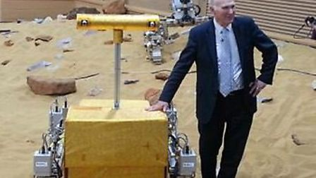 Vince Cable at the Airbus Defence and Space's Mars Yard facility