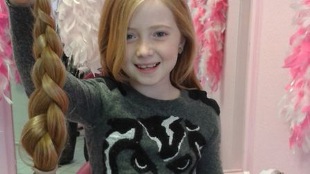 Rebecca Honeysett has had 15 inches of her hair cut off for charity