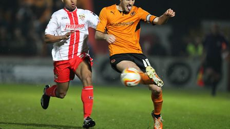 Jo N'Guessan came off the bench against Wolves. Photo: Harry Hubbard