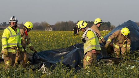 Two men were killed after a light aircraft crashed