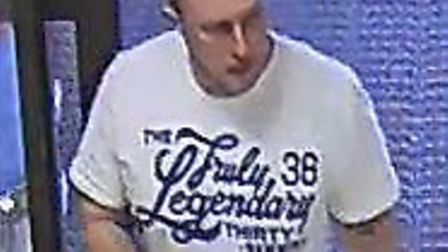Police have released an image of this man in connection with the theft of three DVDs from Tesco in B