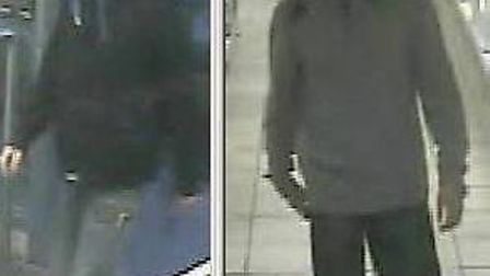 Police have released an image of these men in connection with the theft of four packs of cheese from