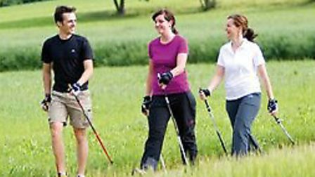 A Nordic Walking course is being held in Thaxted
