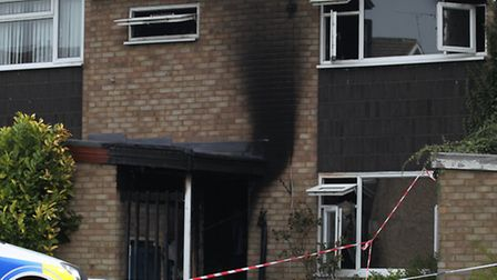 The house, Maddles in Letchworth GC, suffered extensive smoke damage from the fire