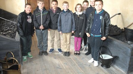 Pupils from Katherine Semar Junior School in the newly-opened Victorian Coal Gallery at Audley End H