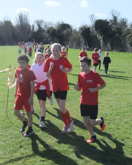 Pupils at St Mary's Junior School in Baldock completed a course around their school playing fields