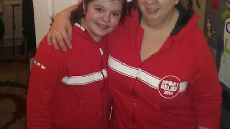 Abbie Cooper, pictured with her mum Jenny, held a quiz night at her home in Newton Road, Stevenage