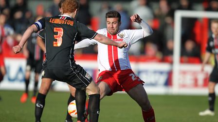 Michael Doughty in action for Stevenage