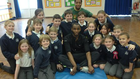 British triple jumpers Kola Adedoyin (front), who finished second in the British Olympic trials for