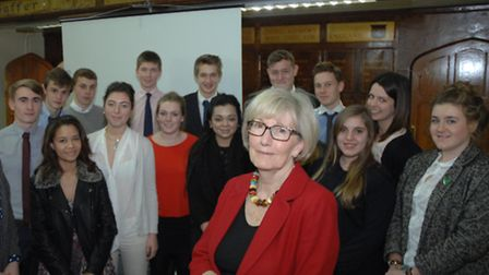 Baroness Genista McIntosh of Hudnall paid a visit to Newport Free Grammar School earlier this month.