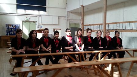The college takeover team at the British Schools Museum in Hitchin. Credit: Mitchell Wilson