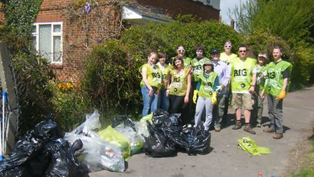 Last year students from The Priory School and residents from Westmill cleaned up around the Redhill