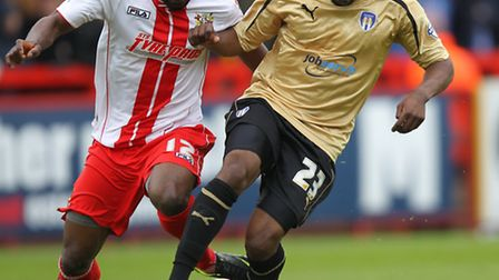 Tosin Olufemi in action for Colchester. Photo: Harry Hubbard
