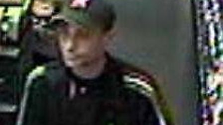 Police wish to speak to this man in connection with a theft from a Hitchin BP garage
