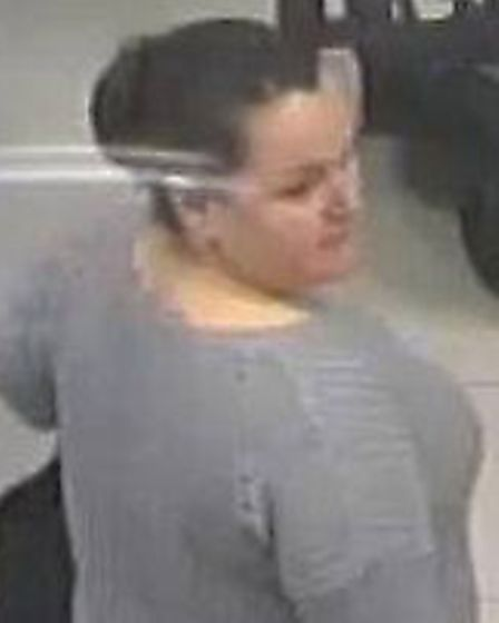 Police wish to speak to this woman in connection with a theft in Boots in Hitchin